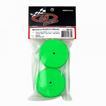 SpeedLine PLUS 2.4 Wheel for Associated B64 / TLR 22-4 / Kyosho ZX-6 / HB D413 / Front / GREEN