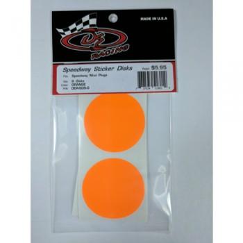 Sticker Disks for Speedway Mud Plugs / ORANGE