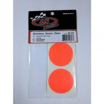 Sticker Disks for Speedway Mud Plugs / RED ORANGE