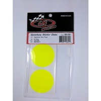 Sticker Disks for Speedway Mud Plugs / YELLOW