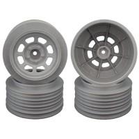 Speedway SC Wheels for Traxxas Slash Rear / 21.5mm BKSP / SILVER / 4Pcs.