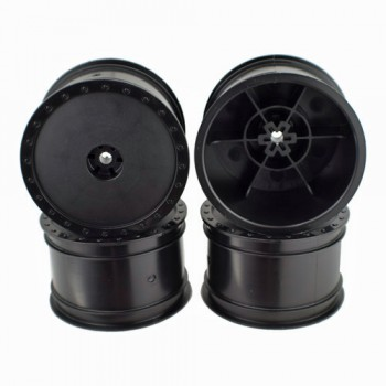 Borrego Wheels for Associated B4 / Pin / Rear / BLACK / 4Pcs
