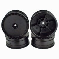Borrego Wheels for Associated B6 / Kyosho RB6 / Front / BLACK / 4Pcs