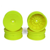 Speedline Buggy Wheels for Associated B6.1 / Kyosho RB6 / Front / YELLOW / 4pcs