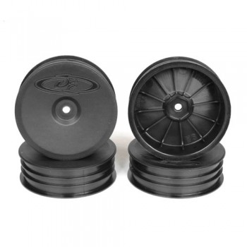 Slim Speedline Buggy Wheels for Associated B6 - B6D / Kyosho RB6 / Front / BLACK / 4Pcs