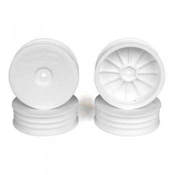 Slim Speedline Buggy Wheels for Associated B6 - B6D / Kyosho RB6 / Front / WHITE / 4Pcs