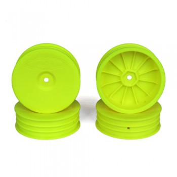 Slim Speedline Buggy Wheels for Associated B6 - B6D / Kyosho RB6 / Front / YELLOW / 4Pcs