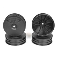 Slim Speedline Buggy Wheels for TLR 22  3.0 - 4.0 / Front / BLACK / 4Pcs
