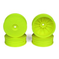 Slim Speedline Buggy Wheels for TLR 22  3.0 - 4.0 / Front / YELLOW / 4Pcs