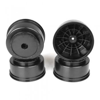 Borrego SC Wheels for Kyosho Ultima SC / HPI Blitz / Slash Rear - Slash 4x4 / BLACK / 4pcs