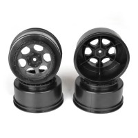 Trinidad SC Wheels for Associated SC5M-SC10-ProSC/+3mm/BLACK/4pcs