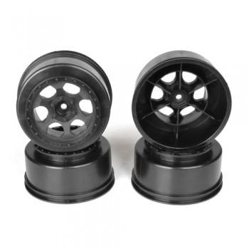 Trinidad SC Wheel for Traxxas Slash Rear - Slash 4x4 / HPI Blitz / BLACK / 4pcs