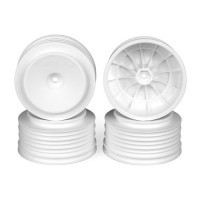 Speedline Plus SC Wheels for Kyosho Ultima SC / Traxxas Slash Rear - Slash 4x4 / WHITE / 4pcs