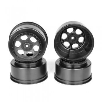 Trinidad SC Wheels for TLR TEN-SCTE - 22SCT/Tekno SCT410/BLACK/4pcs