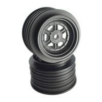 Gambler Rear Wheels for Late Model / MWM / Street Stock / 12mm Hex / AE -TLR / BLACK