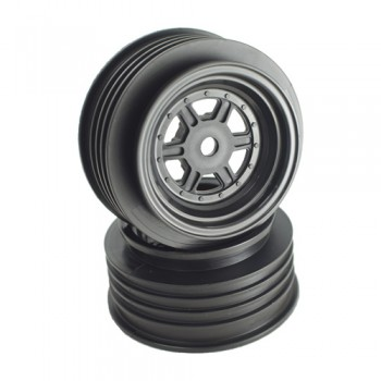 Gambler Front Wheels with 12mm Hex / AE Offset / BLACK