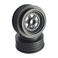 "Gambler Front Wheels for 3/8"" Bearing / Custom Works / GFRP / BLACK"
