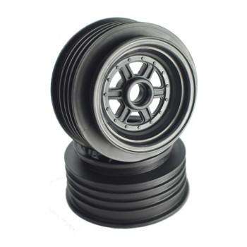 """Gambler Front Wheels for 3/8"""" Bearing / Custom Works / GFRP / BLACK"""