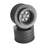 Gambler Rear Sprint Wheels with 12mm Hex / AE -TLR / BLACK