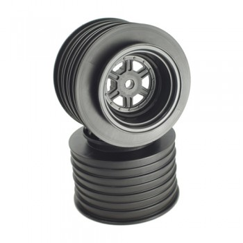 Gambler Rear Sprint Wheels with 12mm Hex / AE -TLR / BLACK