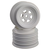 Gambler Rear Wheels for Late Model / MWM / Street Stock / 12mm Hex / AE -TLR / WHITE