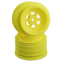 Gambler Rear Wheels for Late Model / MWM / Street Stock / 12mm Hex / AE -TLR / YELLOW