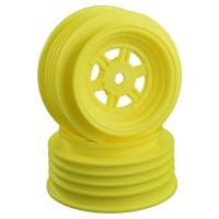 Gambler Front Wheels with 12mm Hex / AE Offset / YELLOW