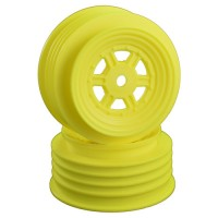 Gambler Front Wheels with 12mm Hex / TLR Offset / YELLOW
