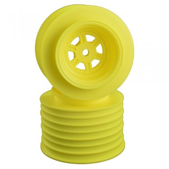 Gambler Rear Sprint Wheels with 12mm Hex / AE -TLR / YELLOW