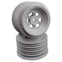 Gambler Rear Wheels for Late Model / MWM / Street Stock / 12mm Hex / AE -TLR / SILVER