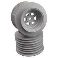 Gambler Rear Sprint Wheels with 12mm Hex / AE -TLR / SILVER