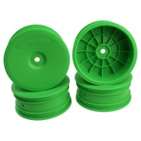 Speedline Buggy Wheels for Associated B6.1 / Kyosho RB6 / Front / GREEN / 4pcs