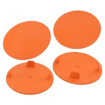 Snap-In Mud Plugs for Speedway Wheels (Orange)