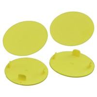 Snap-In Mud Plugs for Speedway Wheels (Yellow)