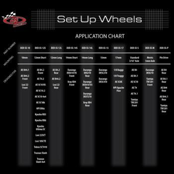 Large Setup System Wheels / Short Course / 1/8 Buggy / Truggy