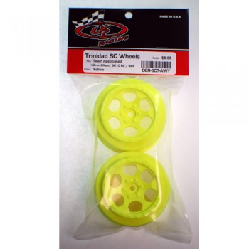 Trinidad SC Wheel for Associated SC5M - SC10 - ProSC / +3mm / YELLOW