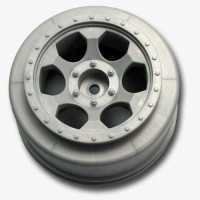 Trinidad SC Wheels for Traxxas Slash Front / SILVER
