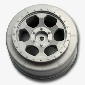 Trinidad SC Wheels for Traxxas Slash Rear - Slash 4x4 / SILVER