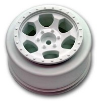 Trinidad SC Wheels for Traxxas Slash Rear - Slash 4x4 / WHITE